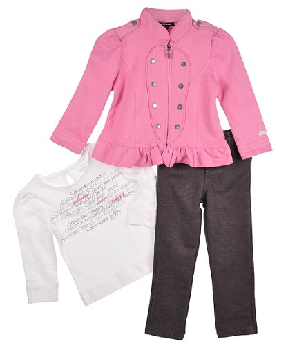"Calvin Klein ""Snap Chest"" 3-Piece Outfit (Sizes 12M - 24M) - assorted colors, 18 months"