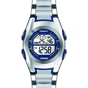 Oxbow - Reloj digital para niño de caucho azul