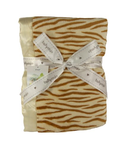Plush Tiger Print Baby Blanket - 1