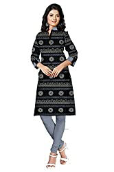 Riddhi Dresses Women's Cotton Unstitched kurti (Riddhi Dresses 28_Multi Coloured_Free Size)