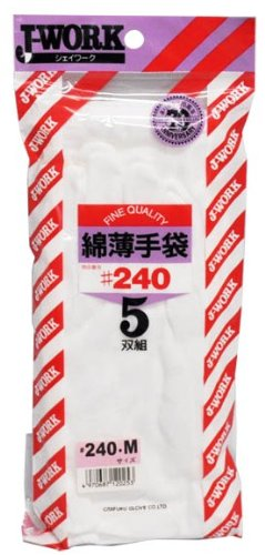 綿薄手袋 M 5双組 240