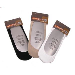 No Show Loafer Liner Sock - 3 pack - for Men by Gold Toe