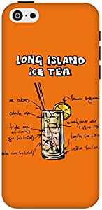 The Racoon Lean Orange Long Island Iced Tea hard plastic printed back case / cover for Apple Iphone 5c