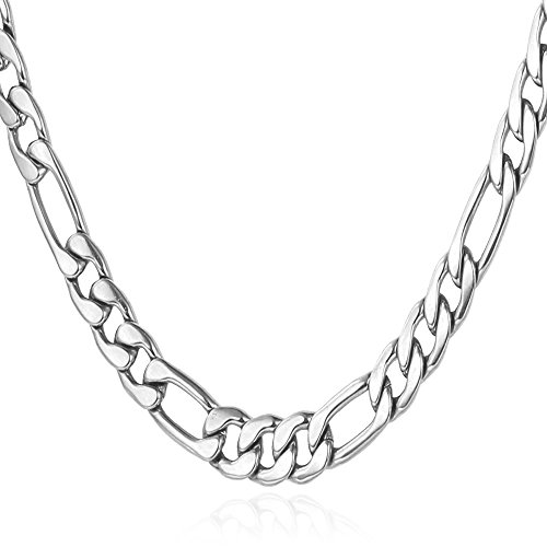 22-inches-mens-stainless-steel-italian-solid-figaro-chain-necklace