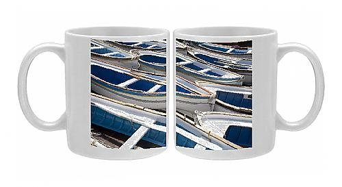 Photo Mug Of Boats For The Visit To The Famous Blue Grotto, Capri, Bay Of Naples, Italy, From Robert Harding