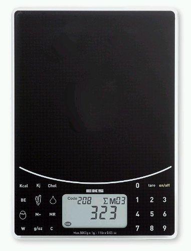 EKS 8244 SV NUTRITION Balance Électronique Nutritionelle en Verre 5 kg