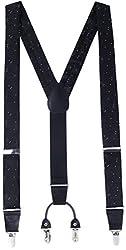 Marino Men's Y-Back Adjustable, Needle-Sharp Clip, Silk-like Dress Suspender