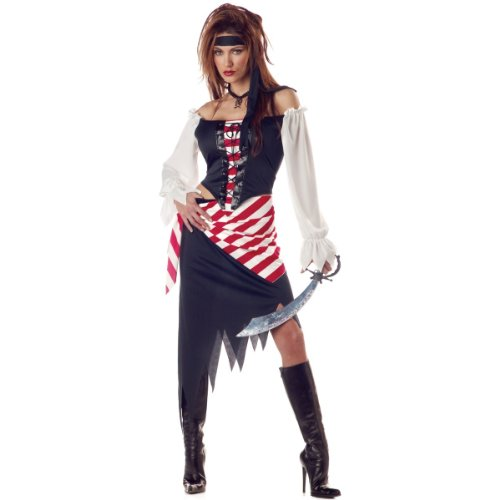 Ruby the Pirate Beauty Costume - Small - Dress Size 6-8