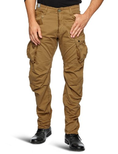 G Star Co Rovic 3D Tapered Loose Men's Cargo Trousers Fox W36INxL30IN