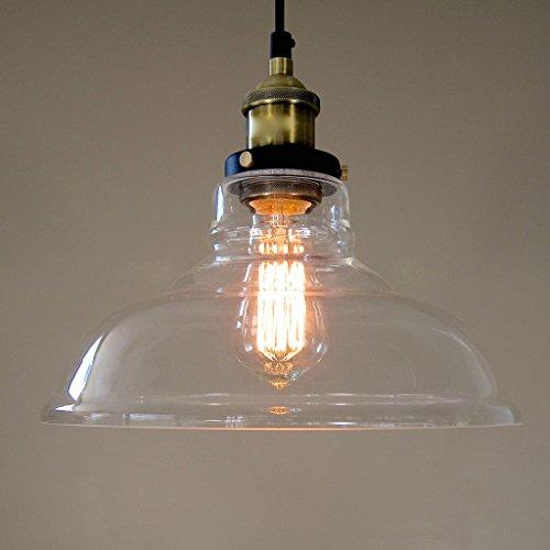 Kiven® Designer Industry Edison Hanging Pendant Light Crystal Chandelier Glass Bowl Resturant Light (Without Bulb)
