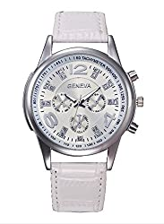 Geneva Platinum Analog Silver Dial Womens Watch - GP-212