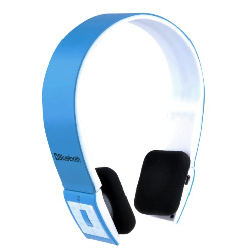 VicTsing Sports Over the head Wireless Bluetooth Stereo Headset Headphone Black For iphone 5 5G 5S 4S 4 ipad 4 3 2 ipad mini Samsung galaxy S4 SIV S3 SIII S2 SII S1 Note 3 Note 2 Note 1 HTC One M7 Sony Xperia Z L36h L36i Nokia Lumia 925 LG Optimus G Nexus 4 7 10 Blackberry Z10 Smartphones PC Laptops -Handsfree and Rechargeable(Light Blue) VicTsing Bluetooth Headsets autotags B00GWG21BM
