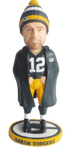 Aaron Rodgers Green Bay Packers Sideline Winter Coat/Hat 2013 NFL Bobble Head Exclusive #/500 at Amazon.com