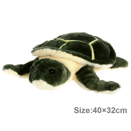 Cute Plush Sea Turtle Stuffed Animal Toy (Sz 40 X 32 Cm) - Green front-1030574