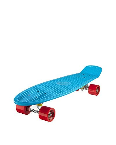 Ridge Skateboards Monopatín Big Brother Cruiser Azul / Rojo