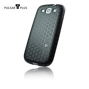 PULSARplus TPU Hülle Handytasche Case für Samsung Galaxy S3 i9300 Tasche Schutzhülle in schwarz