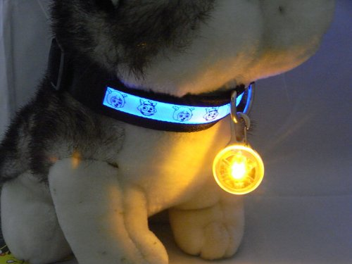 Namsan Dog Puppy Doggie Pet Spotlit Led Lights 8 Colours -Yellow