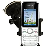 NEW IN CAR PHONE HOLDER WINDSCREEN SUCTION MOUNT CRADLE + IN CAR CHARGER FOR NOKIA C2-01
