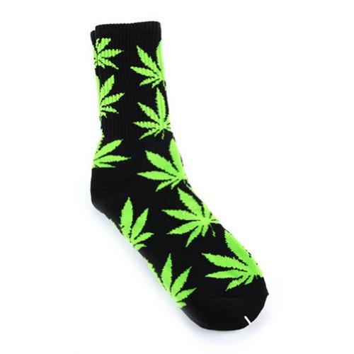 Marijuana Leaf High Socks
