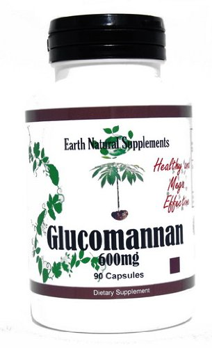 Glucomannan * 90 Capsules Glucomannan 600 Mg Konjac Root