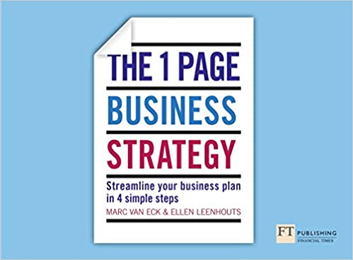 One Page Business Strategy The One Page Business