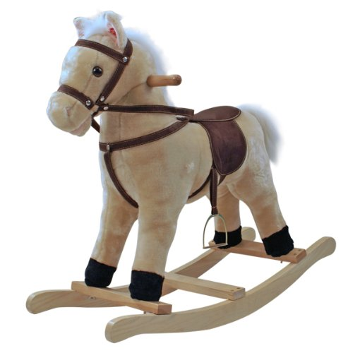 Balancín de peluche caballo