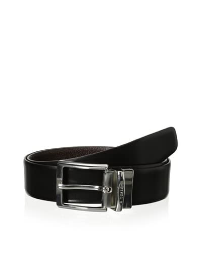a.testoni Men's Soft Caviar Calf and Box Calf Belt