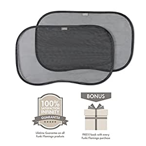 Premium Car Sun Shades | Pack Of 2 | Block UV Rays | Protect Your Child | Simple Installation | Ideal Gift | 100% Infinity Guarantee |