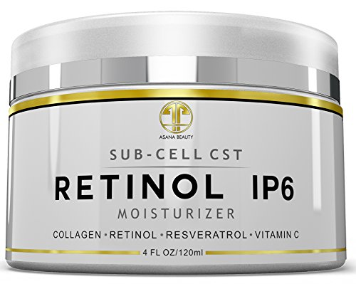 Retinol iP6 Night Cream, HUGE 4 OZ Moisturizer for Face & Eyes - Anti Aging & Anti Wrinkle Firming Cream for Fine Lines, Wrinkles & Dry Skin, Natural Lotion with Vitamin C, E, Resveratrol & Collagen Review