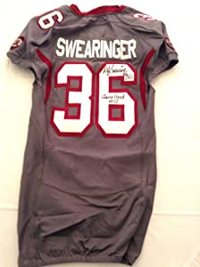 Autographed DJ Swearinger game used South Carolina Gamecocks Wounded Warrior jersey. by Man+Cave+Pro+Memorabilia