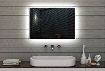 Specchio da bagno specchio da bagno specchio da parete illuminazione a LED, Alluminio, 100x70