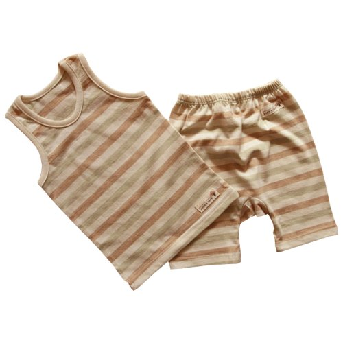 Baby Boy Tank Top And Pant Set, 100% Organic Cotton Pajama Sets (12 ~ 24 Months) front-911114