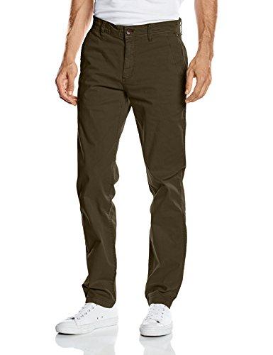 Hilfiger Denim THDM ORIGINAL STRAIGHT CHINO FREDDY 1, Pantalone Uomo, Grün (OLIVE NIGHT 377), W33/L32