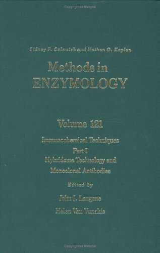 Methods In Enzymology, Volyme 121: Immunochemical Techniques, Part I: Hybridoma Technology And Monoclonal Antibodies