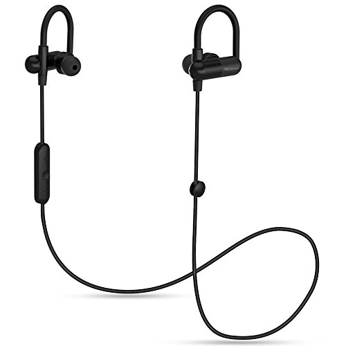 Auricolari Bluetooth, TaoTronics Cuffie Sportive Wireless Stereo (Bluetooth 4.1, aptX, A2DP, 8 ore di Riproduzione, Microfono Incorporato, CVC 6.0, Clip per il Cavo, Design ad Archetto) per iPhone, Samsung, Tablet, MP3, ecc. -Nero