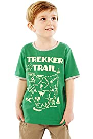 Pure Cotton Trekker Trail T-Shirt with Stay New&#8482;
