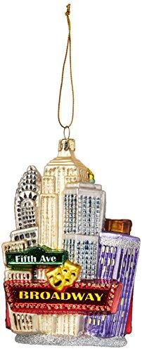 Kurt Adler NYC Cityscape Glass Ornament, 5.35-Inch (Kurt Adler Ornaments New York compare prices)