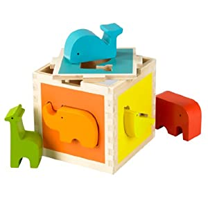 Amazon.com: DwellStudio Animal Block Sorter: Baby