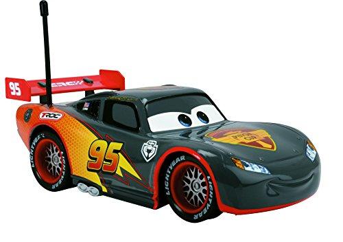 Majorette 213084000 - Cars Rc Saetta Mc Queen Carbon 1:24, Nero