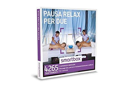 SMARTBOX - Cofanetto Regalo - PAUSA RELAX PER DUE - Massaggi relax, percorsi e trattamenti benessere e bellezza