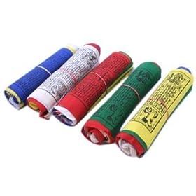 ~ Tibetan Prayer flags ~ 5 ROLL SET ~ LUNGTA flag x 50 ~