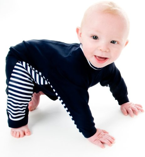 Splash About Uv All-In-One Suit (Sun Protection), Navy/White, 3-6 Months front-923939