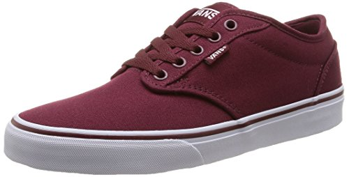 Vans Atwood - Sneakers da uomo, rosso (canvas/windsor wine/white), 42