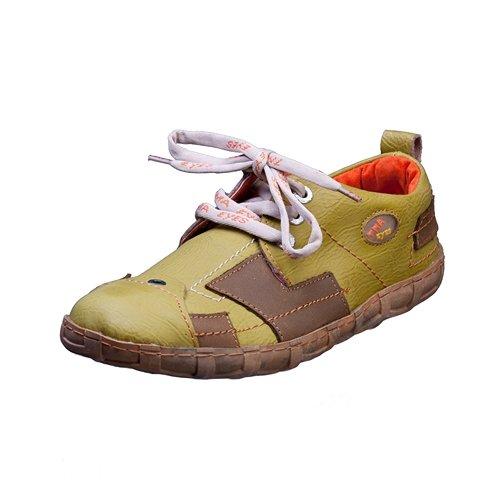 TMA EYES 2618 Schnürer Gr.36-42 mit bequemen perforiertem Fußbett 100% Leder 39.35 super leichter Schuh der neuen Saison. ATMUNGSAKTIV in Grün Gr.36