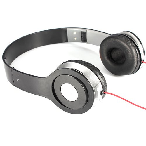 3.5Mm Foldable Stereo Headset Headphone For Laptop Desktop Pc Mp3/4 Iphone
