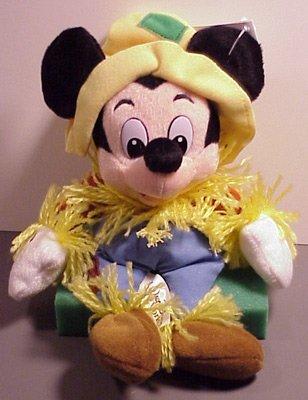Disney Bean Bag Plush Mickey Mouse Scarecrow - 1