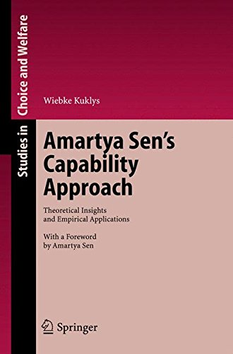Amartya Sen's Capability Approach: Theoretical Insights and Empirical Applications (Studies in Choice and Welfare)
