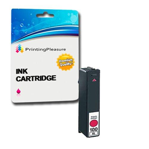 Printing Pleasure - 1 Magenta Hohe Qualität Tintenpatrone NO.100 kompatibel für Lexmark Drucker Impact S305, Interact S605, S405, Prospect Pro205, Intuition S505, Pinnacle Pro 901, Platinum Pro905, Prestige Pro 805, Prevail Pro 705