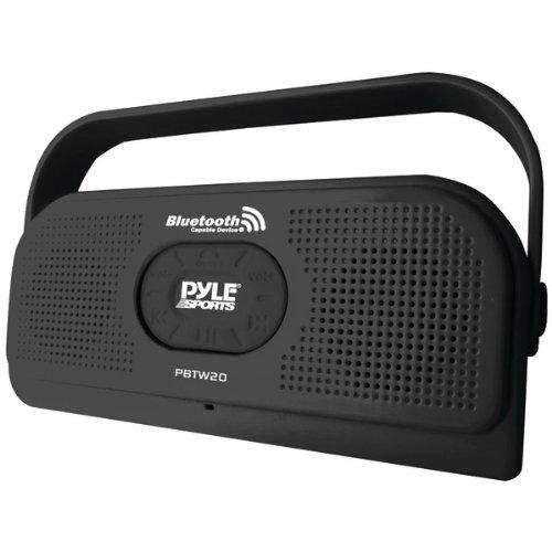 Pyle Surf Sound Waterproof Wireless Bluetooth Stereo Speaker (Black)