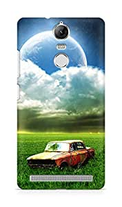 Amez designer printed 3d premium high quality back case cover for Lenovo K5 Note (Vintage Old Car Grassland Outer Space Cloudy Shiny Planet)